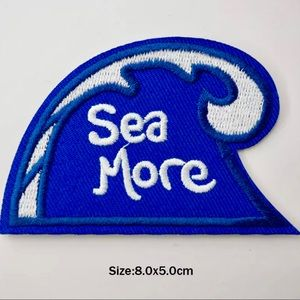 Accessories - Sea More Wave Iron On Embroidered Patch
